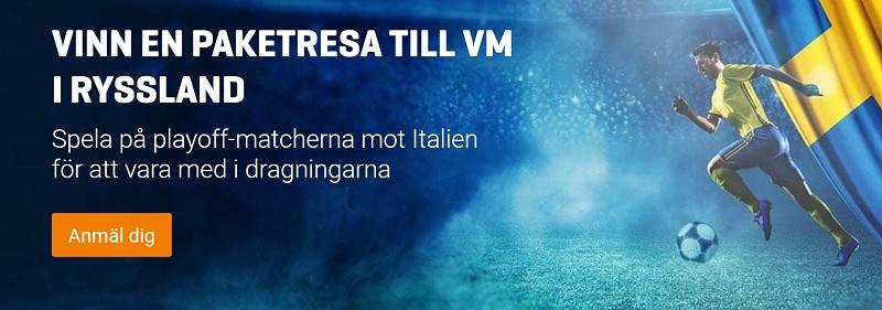 Sveriges startelva mot Italien i playoff