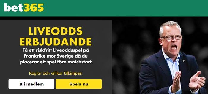 Sveriges startelva mot Frankrike i VM kvalet 11 nov
