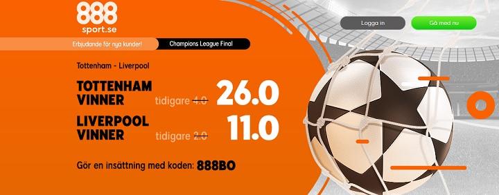 Champions League final 2019 med odds, erbjudanden och bonuskoder